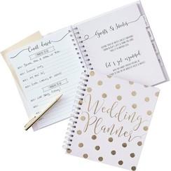 Weddingplanner boek | Engelstalig | Goud