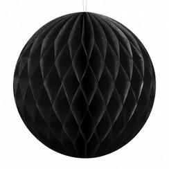Honeycomb bal | Zwart | 10 cm