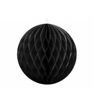 PartyDeco Honeycomb bal | Zwart | 40 cm