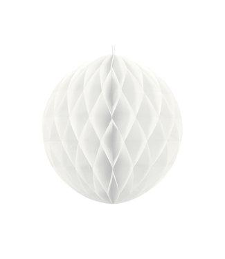 PartyDeco Honeycomb bal | Wit | 20 cm