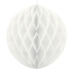Honeycomb bal | Wit | 30 cm