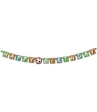Haza Letterslinger Happy birthday - Voetbal