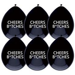 Ballonnen Cheers Bitches  - 6 stuks