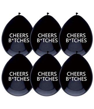 Haza Ballonnen Cheers Bitches  - 6 stuks
