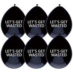 Ballonnen Let's get wasted  - 6 stuks