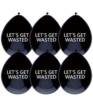 Haza Ballonnen Let's get wasted  - 6 stuks