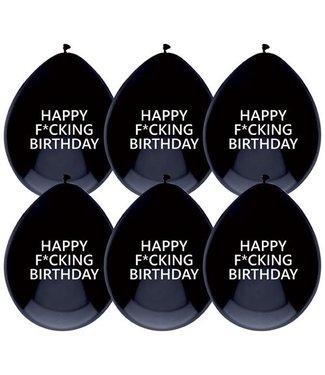 Haza Ballonnen Happy f*cking birthday  - 6 stuks