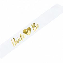 Bride to be sjerp | Wit met gouden tekst