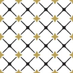 Servetten Goud - Zwart  | 20 stuks