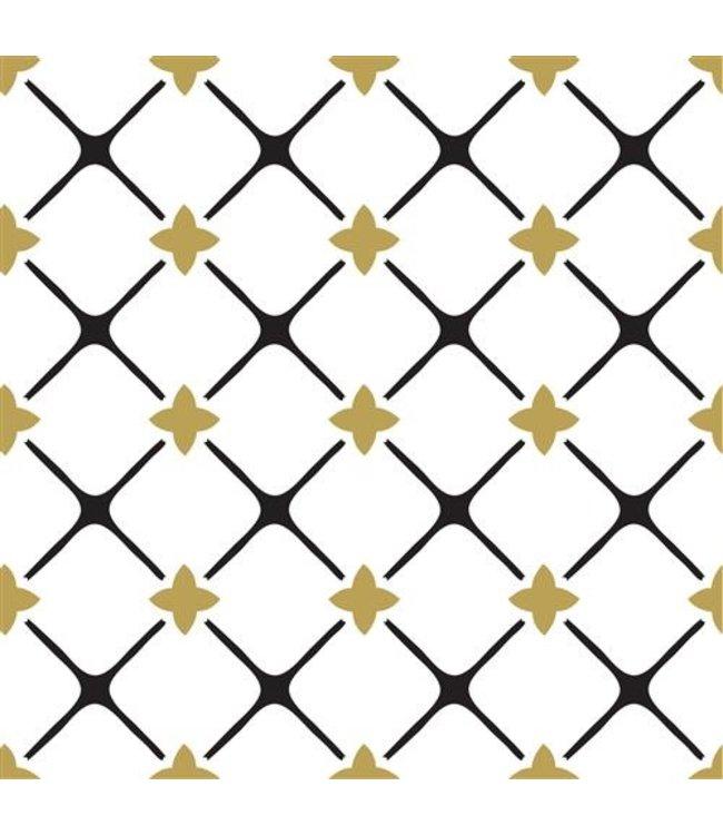 Haza Servetten Goud - Zwart  | 20 stuks