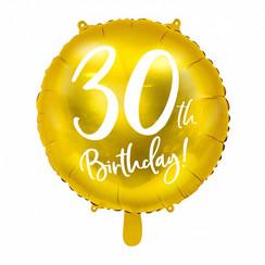 Folieballon 30th birthday | 30 jaar