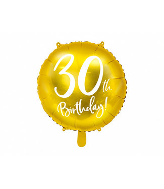 PartyDeco Folieballon 30th birthday | 30 jaar