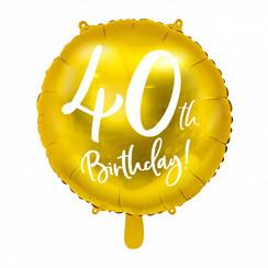 Folieballon 40th birthday | 40 jaar