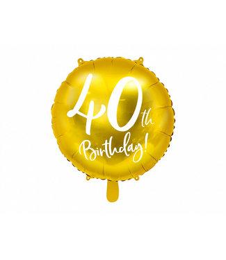 PartyDeco Folieballon 40th birthday | 40 jaar