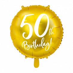Folieballon 50th birthday | 50 jaar