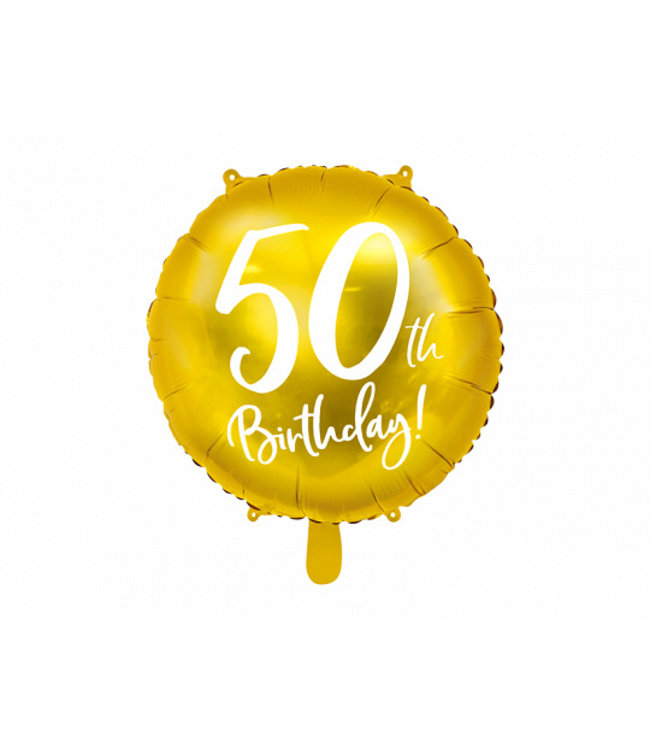 PartyDeco Folieballon 50th birthday | 50 jaar