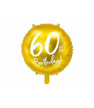PartyDeco Folieballon 60th birthday | 60 jaar