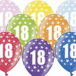 Ballonnen 18 verjaardag | sterren | 6 stuks