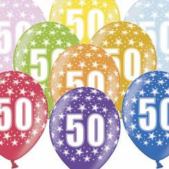 Ballonnen 50 verjaardag | sterren | 6 stuks