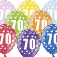 Ballonnen 70 verjaardag | sterren | 6 stuks