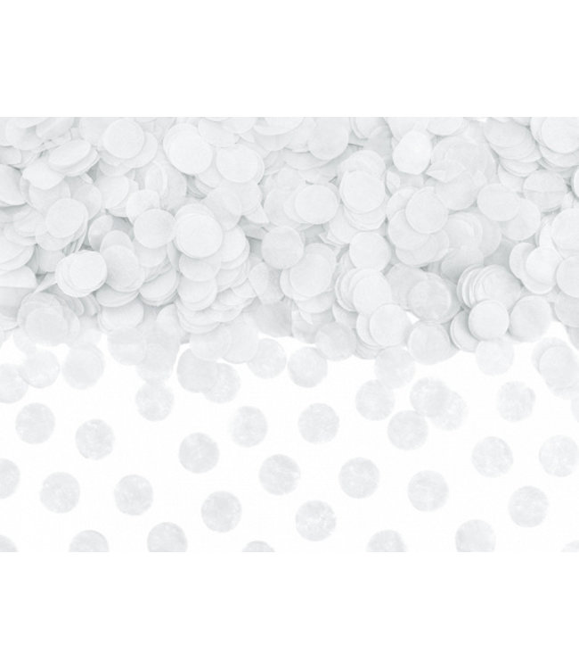 PartyDeco Confetti wit - 15 gram