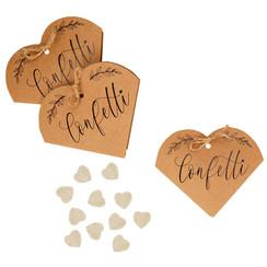 Biologisch afbreekbare bruiloft confetti - Kraft hart