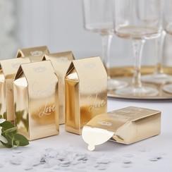 Biologisch afbreekbare bruiloft confetti - Goud