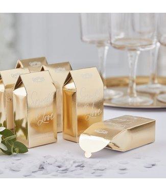 Feestdeco Biologisch afbreekbare bruiloft confetti - Goud
