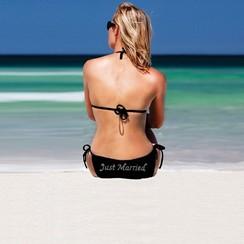 Bikini Just Married - Zwart