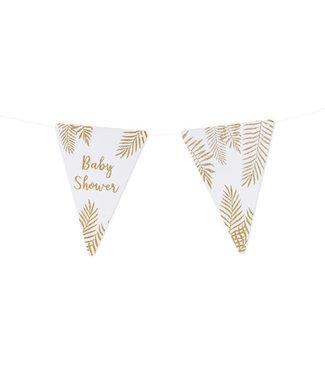 Feestdeco Slinger Babyshower gouden glitters | DIY