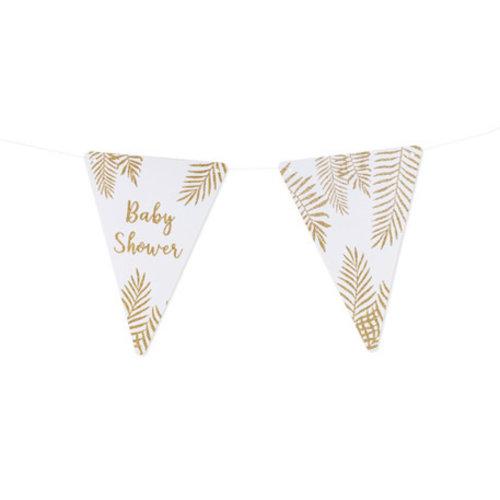 Feestdeco Slinger Babyshower gouden glitters | DIY | 2 meter