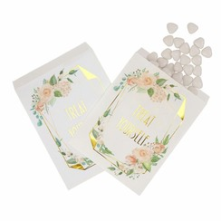 Snoepzakjes Treat Yourself - 25 stuks - Floral