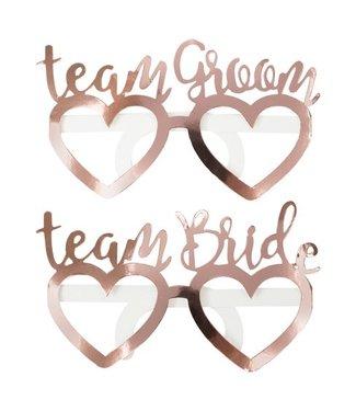 Ginger Ray Team bride & Team Groom brillen | 8 stuks