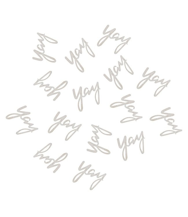 Ginger Ray Houten tafelconfetti - Yay (25 stuks)