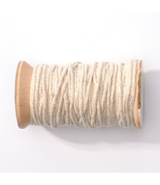 Feestdeco Baker's twine naturel-zilver | 20 meter | 2 mm breed