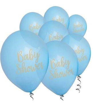 Feestdeco Babyshower ballonnen blauw