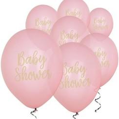 Babyshower ballonnen roze