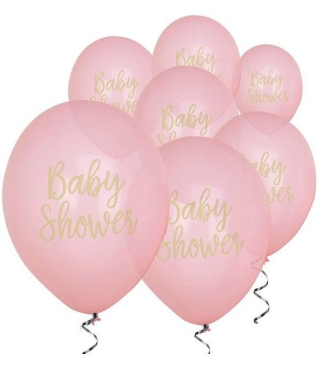 Feestdeco Babyshower ballonnen roze