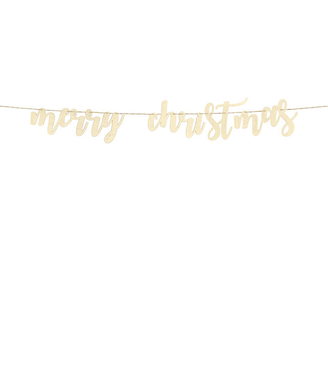 PartyDeco Merry Christmas houten slinger