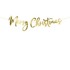 Merry Christmas gouden slinger