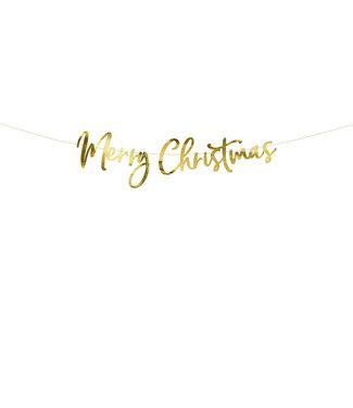 PartyDeco Merry Christmas gouden slinger