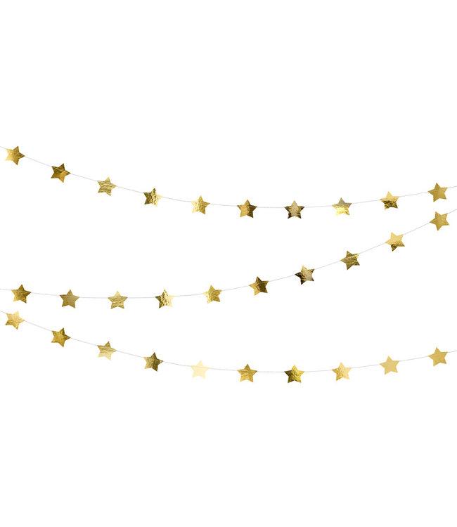 PartyDeco Sterrenslinger goud - 3,6 meter