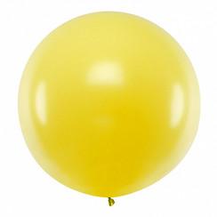 Reuzeballon | geel | 100 centimeter