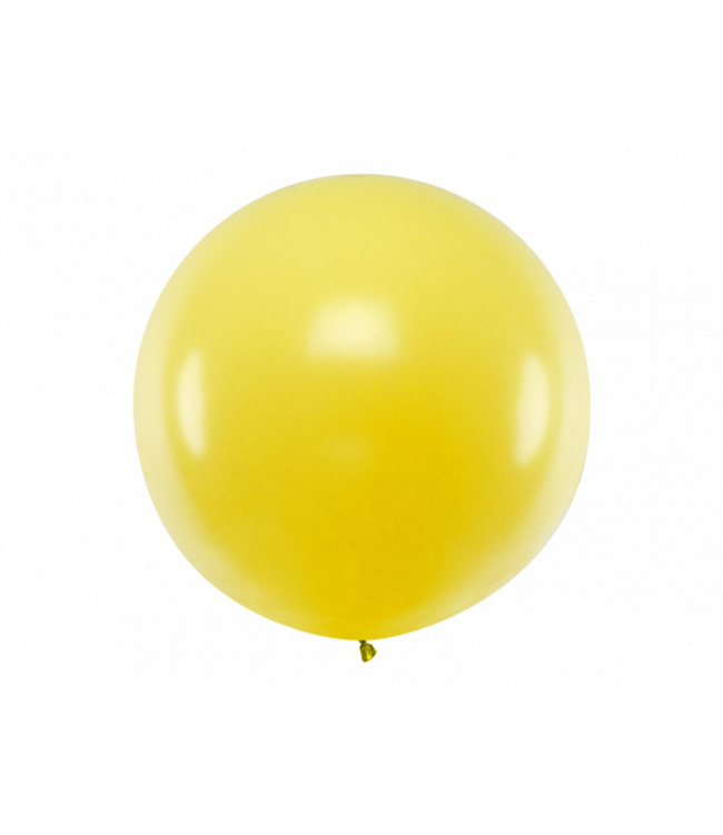 PartyDeco Reuzeballon | geel | 100 centimeter