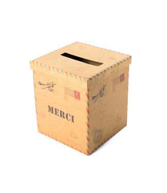 Feestdeco Enveloppendoos Merci Kraft - Reizen