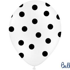Ballonnen stippen wit/zwart