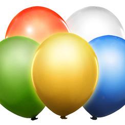 Led ballonnen kleurenmix - 5 stuks