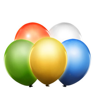 PartyDeco Led ballonnen kleurenmix - 5 stuks