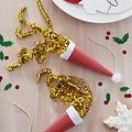 Ginger Ray Mini partypoppers - kerstmuts - 8 stuks
