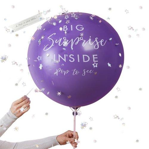 Ginger Ray Big surprise reuzeballon - 1 meter